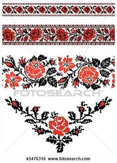 Ukrainian embroidery ornament View Large Clip Art Graphic