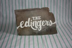 Custom Personalized Sign on Slate by Edinghaus on Etsy