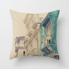 Pillow Cover Beach Pillow Turquoise Pillow Vintage by Andrekart,
