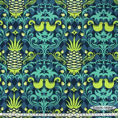 Patty Young Andalucía Birdie Damask in Navy