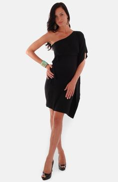 Everly Grey 'Bennet' One-Shoulder Maternity Dress available at #Nordstrom <3