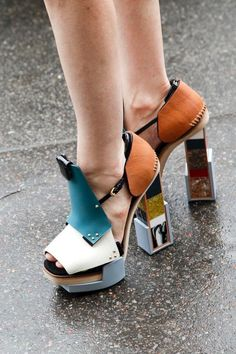 Fashion Week Paris, Fashion Weeks, Crazy Shoes, Me Too Shoes, Weird Shoes, Open Boot, Shoe Boots, Shoes Heels, Ugly Shoes