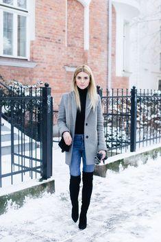 schwarze overknees 10 besten outfits