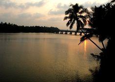 Sunset near Thejaswani Puzha, Nileswaram