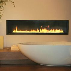 Image result for gas fireplace for bathroom