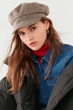 Plaid Baker Boy Hat | Urban Outfitters