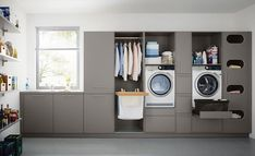 Who says utility rooms have to be boring. When attention to detail is your thing call taylorscot always thinking outside the box!… Like the built in storage for galley style laundry room with window Utility Room Storage, Laundry Room Storage, Built In Storage, Storage Room, Laundry Rooms, Storage Shelves, Utility Room Ideas, Laundry Baskets, Utility Sink