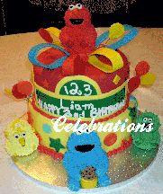 An Elmo and Friends Cake #ElmoandFriends #SesameStreet #CustomCake