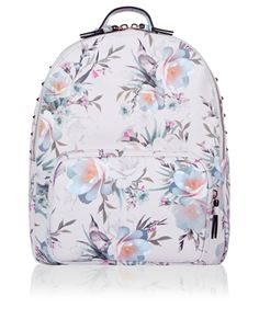 With stud details and sleek zip fastenings adding a tougher twist to a beautiful bird and flower print, our Kyoto backpack will breathe new life into your ac...