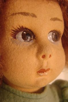 Cute face for babydoll/toddler repaints!  Picture From: My Lenci Doll | Collectors Weekly