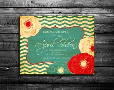 Only 2.95 USD  Wedding invitation Bridal shower by IvanNegin