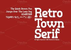Check out Retro Town Font by Mostafa El Abasiry on Creative Market