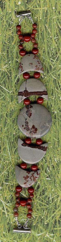 Bracelet  Chohua Jasper Red Jasper Sterling by ChicStatements, $45.00