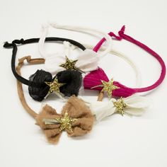 shopminikin - Atsuyo Et Akiko Gauze Star Hairband, Fuchsia, $44.00 (http://www.shopminikin.com/atsuyo-et-akiko-gauze-star-hairband-fuchsia/)