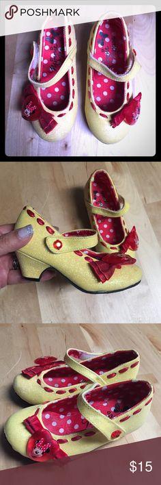 Minnie Mouse Heels Adorable little heels for a little Disney Princess who loves Minnie Mouse :) Disney Shoes Dress Shoes