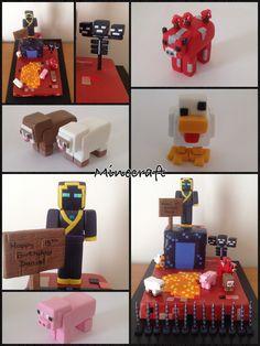 Minecraft cake Minecraft Birthday Party, Minecraft Cake, Minecraft Crafts, Mindcraft Party, Video Game Cakes, Happy 13th Birthday, Cake Design Inspiration, Cake Models, Chocolate Fondant