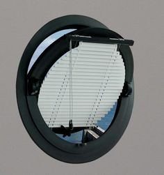 the round window blind and the overhanging round window ledge Window Ledge, Window Shutters, Blinds For Windows, Window Blinds, Small Bathroom Window, Bungalow Bathroom, Narrowboat Interiors, Loft Room, Rustic Room