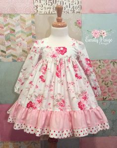 A S's media content and analytics Baby Girl Frocks, Frocks For Girls, Kids Frocks, Dresses Kids Girl, Little Girl Dresses, Cute Dresses, Baby Girl Dress Patterns, Baby Dress, Toddler Outfits