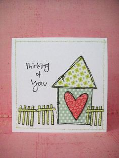 Donna Mikasa - Home Sweet Home - Thinking of you card