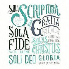 As Solas são frases latinas que resumem os princípios fundamentais da reforma protestante. São elas: SOMENTE A GRAÇA/ SOMENTE A FÉ/ SOMENTE A ESCRITURA/ SOMENTE CRISTO/ GLÓRIA SOMENTE A DEUS