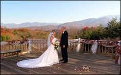 Mountain view wedding- private estate in Gatlinburg, Christian church ordained minister and professional photographer. Honeymoon cabin-custom packages available. Elegant backdrop for the ceremony and keepsake wedding album of your dreams.