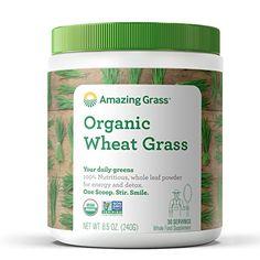 Amazing Grass Organic Wheat Grass Powder, 30 Servings Ama...