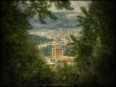 The Temple of Olympian Zeus View from Anafiotika,Plaka  Olympian Zeus by Kirlian667.deviantart.com on @deviantART