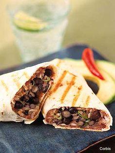 Black bean and cheese tortillas