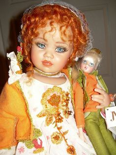 """Jan Mclean Doll Nellie II Vinyl Doll 2003 27"""" + 12"""" Lollipop Doll Ltd ..."""