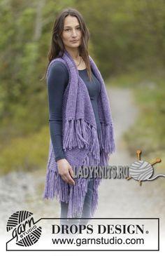 Вязание стильного жилета с бахромой от Дропс