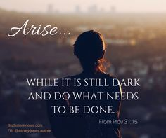 """While you're waiting on the Lord, when everything seems """"dark,"""" be sure to get up and do what needs to be done. This is how we live with #integrity and #faith. Read more in my blog, BigSisterKnows.com."""