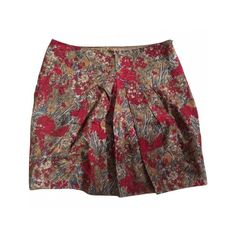 Pre-owned Comptoir Des Cotonniers Skirts ($50) ❤ liked on Polyvore featuring skirts, mini skirts, floral mini skirt, short floral skirt, short skirts, rayon skirt and floral print skirt
