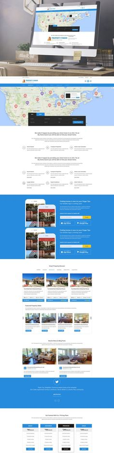 Property Finder - Real Estate PSD. Premium Icons. $8.00