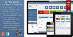 Aquarius - responsive admin panel - ThemeForest Item for Sale