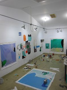 studio at VCCA studio residency and fellowship...Sarah Boyts Yoder