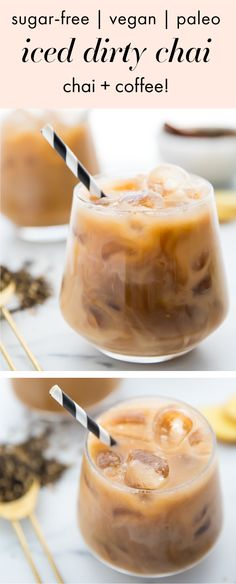 Iced Dirty Chai (Vegan, Paleo, Sugar Free) - 40 Aprons