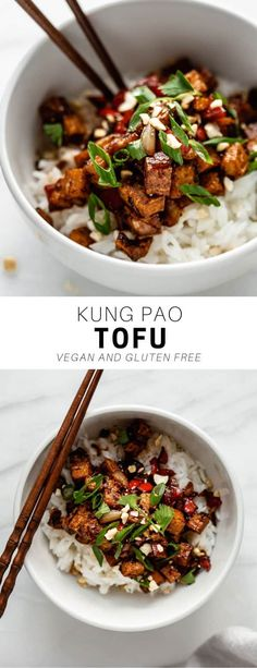 Say hello to your new favorite tofu recipe! Kung Pao tofu is loaded with flavor … Say hello to your new favorite tofu recipe! Kung Pao tofu is loaded with flavor for a healthy vegan and gluten-free recipe everyone will love! Vegetarian Recipes Dinner, Healthy Recipes, Healthy Meal Prep, Vegan Dinners, Gluten Free Recipes, Healthy Snacks, Vegan Tofu Recipes, Recipes With Tofu, Healthy Vegetarian Dinner Recipes