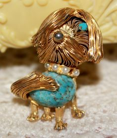 Adorable Vintage Shaggy Dog Pin by RuTalCreations on Etsy,  https://www.etsy.com/listing/160679459/adorable-vintage-shaggy-dog-pin?