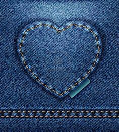 raster Jeans heart denim texture Stock Photo - 12208883