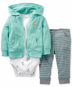 Carter's Baby Boys' 3-Piece Bodysuit, Cardigan & Pants Set