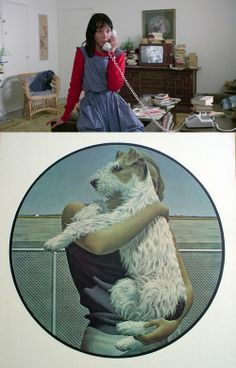 Alex Colville painting used in The Shining