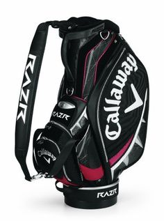 """Callaway Golf RAZR Staff Cart Bag by Callaway. Save 48 Off!. $229.99. Diablo RAZR Staff Bag...Look Sharp, Play Sharp! Callaway RAZR Staff Bag features: 10, 6-way top separates and organizes clubs Comfort single strap with double strap connections Lockable pocket keeps your valuables extra safe Water bottle pockets and large apparel pocket 10 pockets provide plenty of storage space Magnetic ball pocket for easy open/close Redesigned """"Wishbone Power Handle"""" Perfect balance base In..."""
