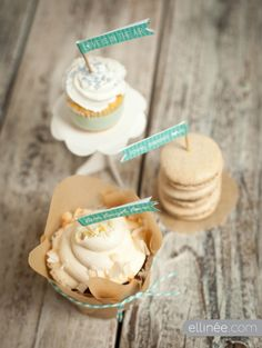 Wedding Cupcake Flags