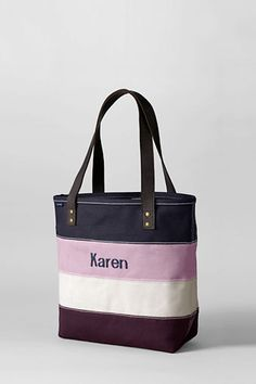 Medium Pieced Stripe Tote from Lands' End.  Great B'day gift and also 30% off and free shipping until Oct. 2!