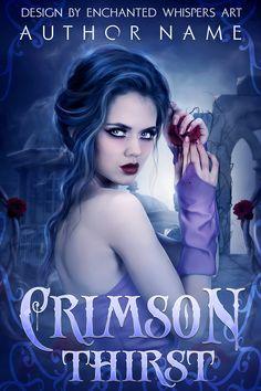 Vampire portrait woman premade book cover design Fantasy Book Covers, Premade Book Covers, Book Cover Design, Paranormal, Author, Portrait, Prints, Movie Posters, Inspiration