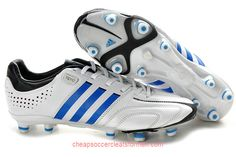 quality design eae2c 847b0 Buy adidas adipure 11Pro TRX FG MiCoach White Blue Black Football Boots  Adidas Soccer Shoes,