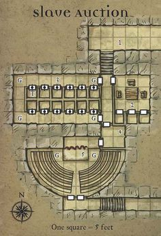 Map of the slave dungeon where Sedrick and Antione end up in book 2