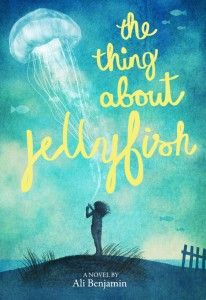 pin> The Thing about Jellyfish by Ali Benjamin. SUMMARY: Twelve-year-old Suzy Swanson wades through her intense grief over the loss of her best friend by investigating the rare jellyfish she is convinced was responsible for her friend's death. Ya Books, Great Books, Books To Read, Reading Lists, Book Lists, Realistic Fiction, National Book Award, Beach Reading, Livres