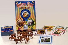 A card game with mini horse manipulatives.
