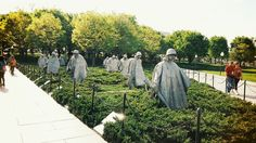 #Korean War Veterans #Memorial, #Washington